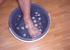 応用 バケツに氷水を入れて