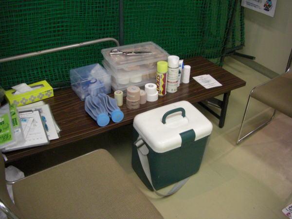 スポーツセンター内の一室が 臨時の治療室となります